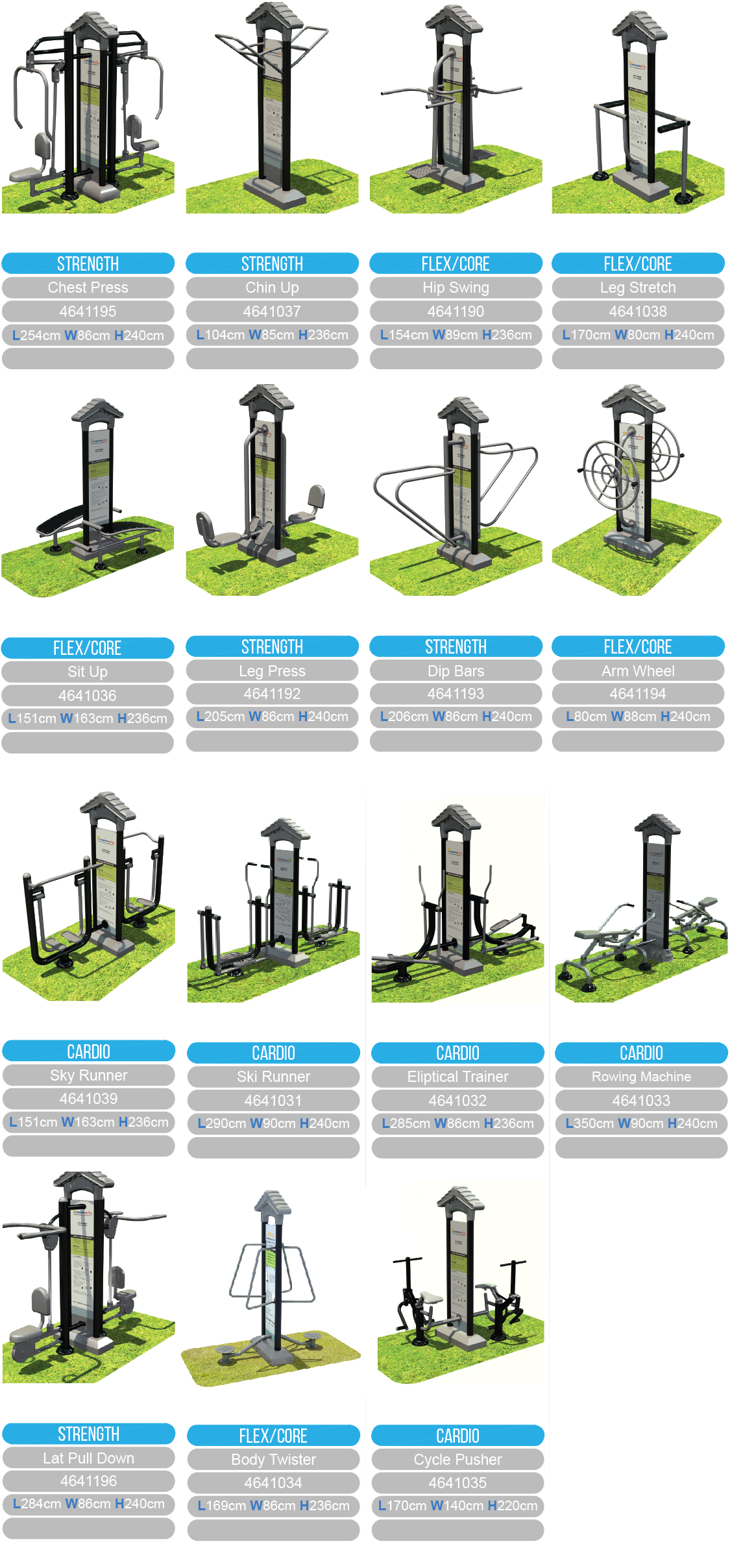 Royal fitness equipment range