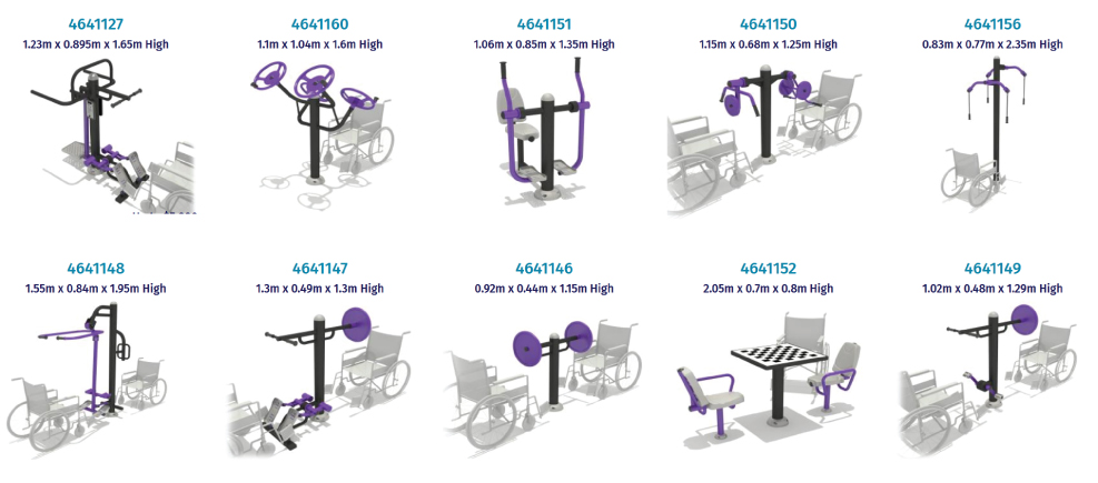 Inclusive fitness equipment